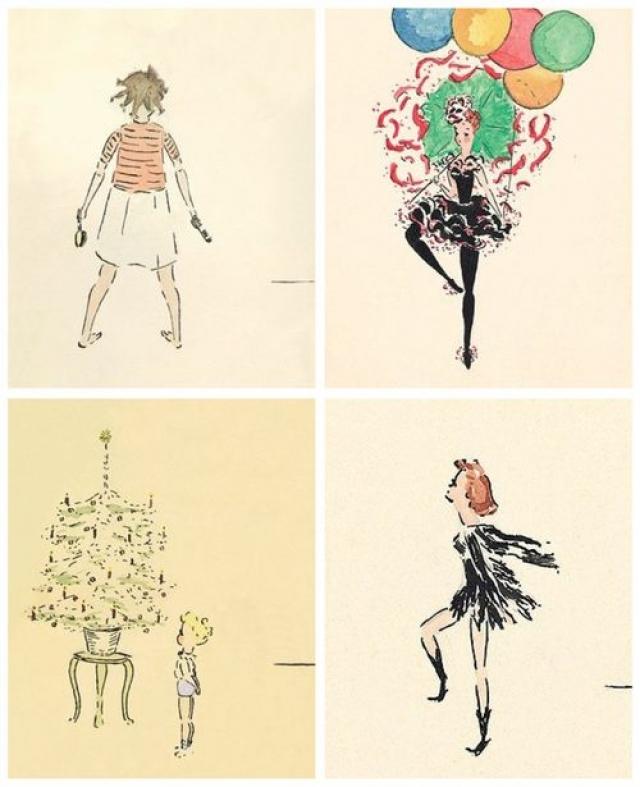 В детстве Хепберн любила рисовать. Некоторые из ее детских рисунков сохранились